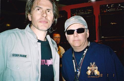 Robert Perala with John Taylor Duran Duran